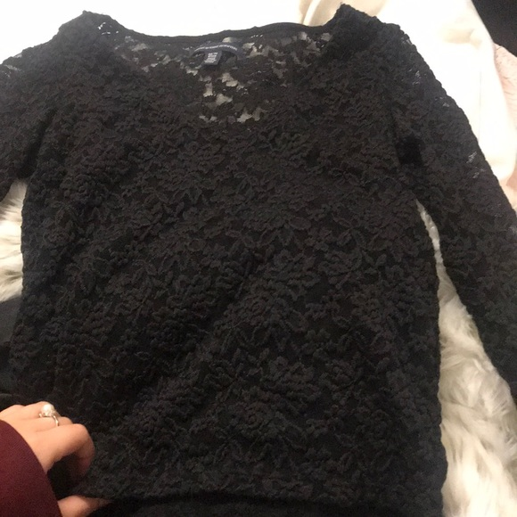 American Eagle Outfitters Tops - American eagle black lace top